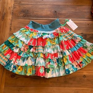NWT Bits n Pieces skirt MJC fabric 9-10